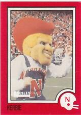 HERBIE HUSKER Mascot 1989 card Nebraska Cornhuskers Football NR MT