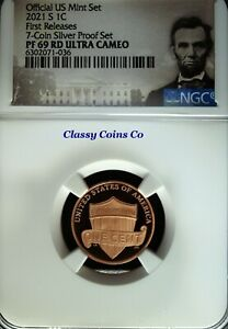 2021 S NGC UCAM Proof 69 Lincoln One Cent ☆☆ Silver Proof Set ☆☆ First Release