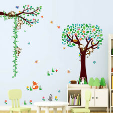 Large Monkey Bird Tree Animals Play Removable Wall Stickers Kids Decals Decor