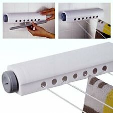 INDOOR WASHING LINE CLOTHES HANGING WALL MOUNTED RACK DRYER AIRER LAUNDRY DRYING