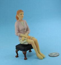 Dollhouse Miniature 1:12 Scale Seated Lady/Female Doll #SDP303