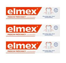 Elmex Toothpaste Prevent Tartar Tooth Decay Oral Care Bad Breath Cure 3x 75ml UK