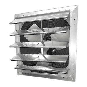 "Dayton 484X46 Shutter Mount Exhaust Fan, 24"", Variable Speed, 115V"