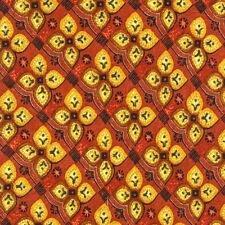 Ermenegildo Zegna Fab! Floral Clover Browns Orange Silk Neck Tie