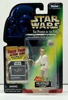 "Star Wars POTF LUKE SKYWALKER LIGHTSABER 3.75"" Figure 1997 Freeze Frame NEW"