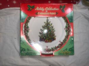 CHRISTOPHER RADKO CHRISTMAS HOLIDAY CELEBRATIONS TRADITIONS DINNER PLATES LOT 4