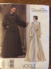 Vogue 2714  Designer Oscar De La Renta 18-22 Floor Length Bridal Coatdress