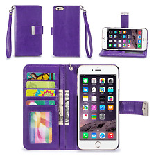 IZENGATE ID Cell Phone Wallet Case Flip Cover PU Leather Folio with Card Slots