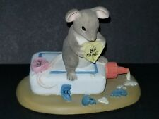 Charming Tails mouse mice mender of broken hearts glue Excellent Condition