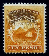 Costa Rica. 1863. 1 Peso. Orange. SC# 4. Mint Hinge