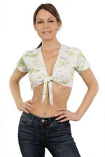 Sexy Spring Floral Stretch Cotton Tie Top/Lingerie/Club/Rave/Made in usa