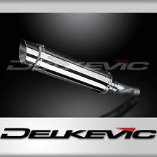 "Honda GSX-R750 SL10 14"" Stainless Steel Round Muffler Exhaust Slip On 08 09 10"