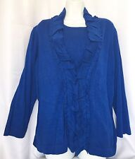 Jones Wear Womens Sapphire Blue 2-Piece Sweater Set Size XL NEW With Tags