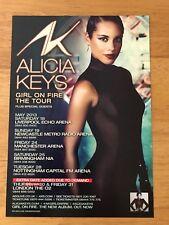 ALICIA KEYS - 1 X 2013 GIRL ON FIRE UK TOUR FLYER (SIZE A5)