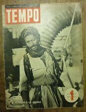 TEMPO - N. 31/1940 - PETROLIO WW2 - MASCHERE - AUTO FUORI SERIE GARAVINI
