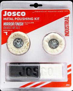 Josco Metal Polishing Kit - Suits Alloy Mag Wheels, Golf Clubs, Bike / Car Parts