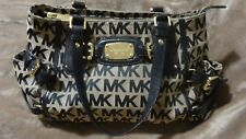 Michael Kors Gansevoort Satchel Purse bag Leather Black Brown 1-3 DAY DELIVERY