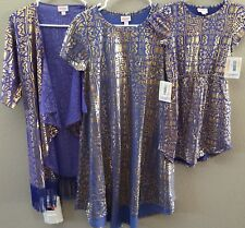 NWT LuLaRoe Elegant Collection S Carly Dress Periwinkle & Gold (1 Dress Only)