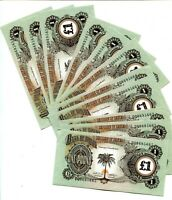 Biafra, 1 pound, ND (1968 - 1969),  UNC NICE LOT 11 NOTES W/CONSECUTIVE LOT Q154