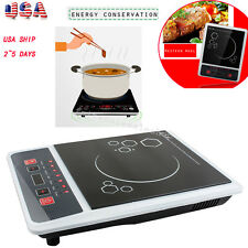 【usa】Electric Induction Cooktop Portable Kitchen Ceramic Cooker Cook Top 2000W