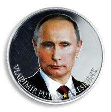 5PCS 2018 Vladimir Putin Russia President Color Crimea Crimean USSR Gold Coin