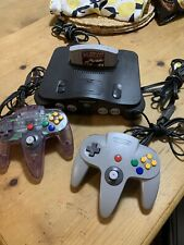 NINTENDO 64 CONSOLE N64 Complete With 2 OEM Controllers Tested & Working Tight