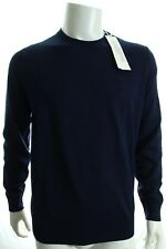BNWT LACOSTE AH5437 MEN'S JUMPER IN JERSEY WITH ELBOW PATCHES CREW NECK SWEATER