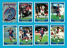 PSG - 12 STICKERS PANINI SUPER FOOT 1997-98 - PARIS SAINT GERMAIN - VERY RARE