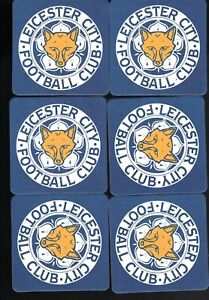 LEICESTER CITY F.C. Pack of Official Crested Beer Mats / Coasters FREE POST UK