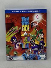 Teen Titans Go Vs Teen Titans (Blu-Ray+Dvd+Digital) New! w/Slipcover