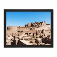 Delso Bam Citadel Castle Kerman Iran Silk Road Photo Framed Wall Art Print 18X24