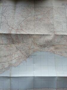 VINTAGE ORDNANCE SURVEY MAP 1959 LYME BAY LYME REGIS CHARMOUTH DORSET SHEET MAP