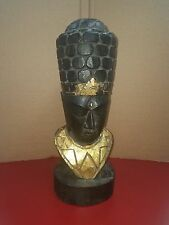 Egyptian Wooden Head Statue