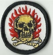 GRATEFUL DEAD skull & bones MINI SHAPED - EMBROIDERED - IRON/SEW ON PATCH import