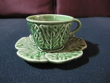 Bordallo Pinhiero Cup and Saucer Made in Portugal