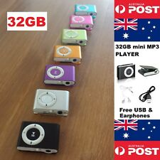 32Gb Mini Mp3 Player Metal With Clip Includes All Accessories - Local Seller