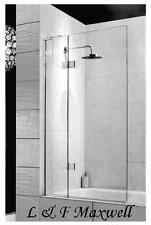 TOUGHEN GLASS Over Bath Shower Screen 900 x 1500