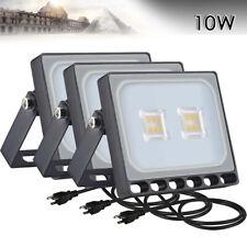 3x 10W LED Flood Light With US PLUG Warm White Outdoor Spotlight Garden Lamp