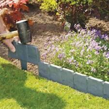Flexible Garden lawn grass Edging Picket Border Panel Plastic Wall Path Fence