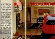 Tia85 Ritaglio Clipping 1985 Quattroruote Auto Elettrica Zagato Mini Van