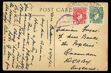 Nigeria 1941 Zaria Market scene PPC 1d+½d MAIDOBI cancel + poor censor