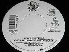 Jive Bunny And The Mastermixers: That's What I Like / Pretty Blue Eyes 45
