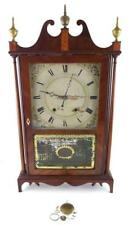Eli Terry and Sons pillar and scroll clock, c. 1830, wooden case, orig. Lot 66