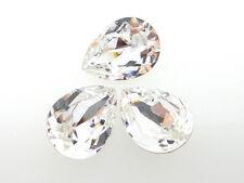 Swarovski Foiled Pear Stones Art.4320 18x13mm Crystal 3 Pieces cc