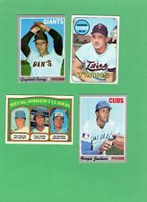 LOT OF 12 - 1957 THRU 1972 BASEBALL CARDS  INC. SEVERAL HALL OF FAMERS