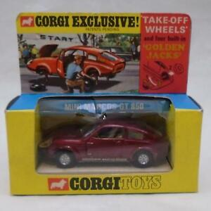 VINTAGE CORGI MINI MARCOS GT 850 GOLDEN JACKS CAR w ORIGINAL BOX FREE SHIP YP