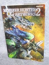 MONSTER HUNTER CG ART WORKS 2 w/Poster Illustration Art Material Book PSP Wii *