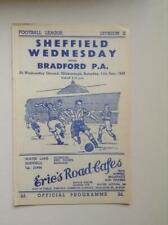 1948/49  Sheffield Wednesday  v Bradford Park  Avenue   -  Football  Programme