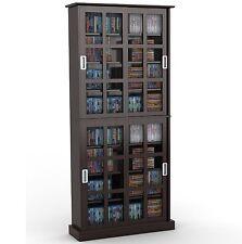 Atlantic Windowpane 720 CD & DVD Media Storage Cabinet in Espresso 94835757 New