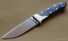 7 INCH OVERALL ROUGH RIDER HUNTING KNIFE WOOD HANDLE WITH NICKEL SILVER BOLSTER